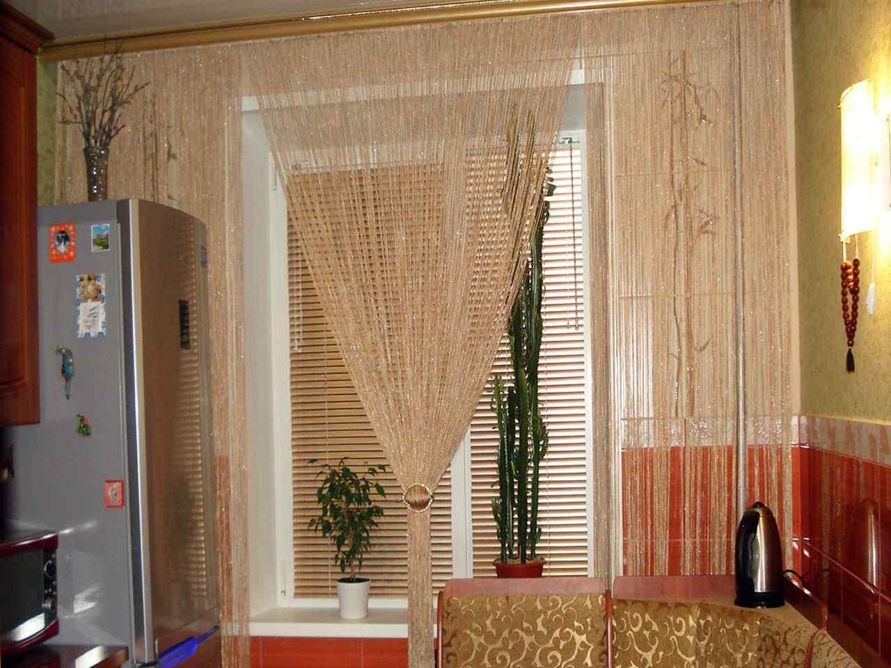 Дизайн со шторами кисея