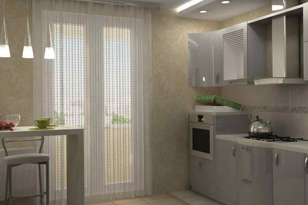 стильные и практичные шторы для кухни с балконом дизайн