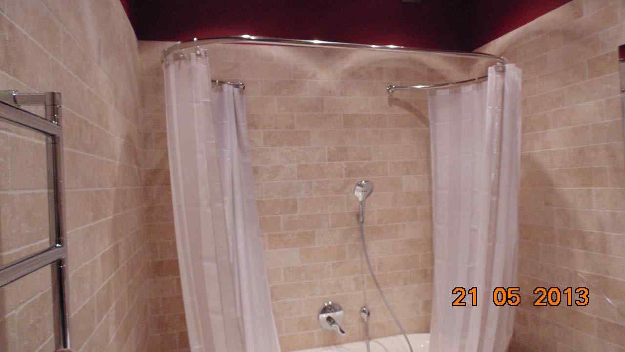 Штанга для шторы в ванную своими руками 171
