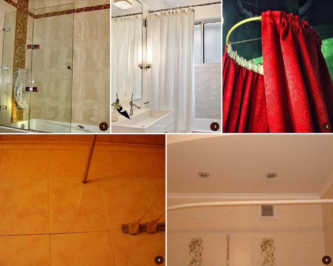 Красно-бело-черная ванная комната и туалет Идеи для ремонта 89