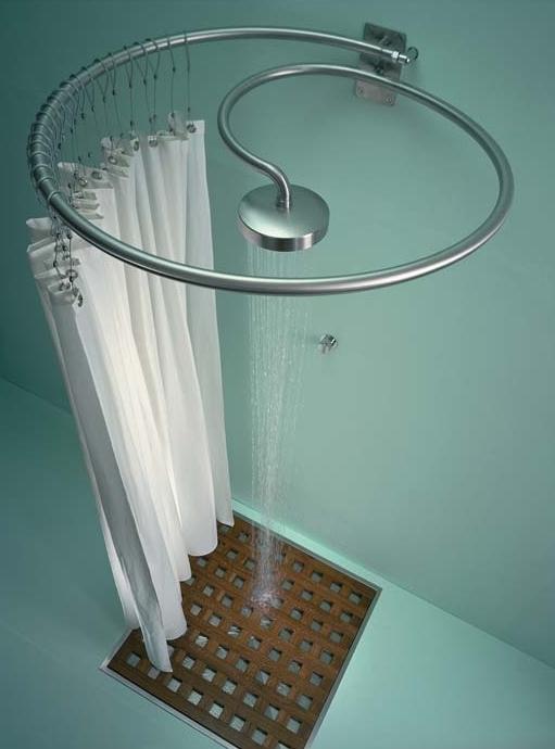 Раздвижная шторка для ванной своими руками: стиль и