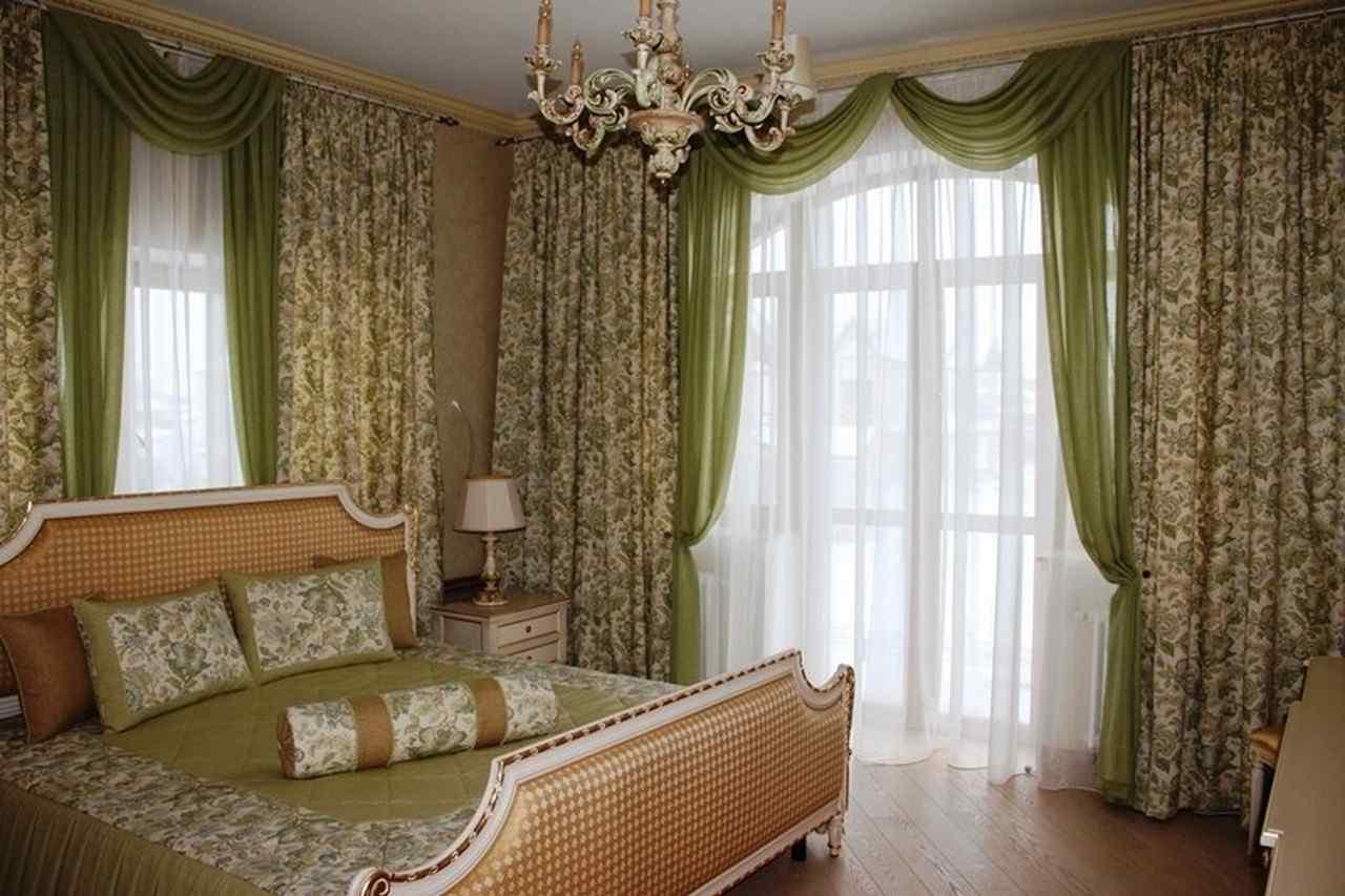 Фото штор двух цветов для спальни