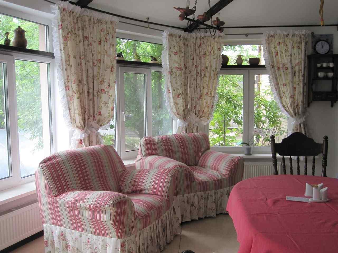 стиль кухонные шторы прованс фото